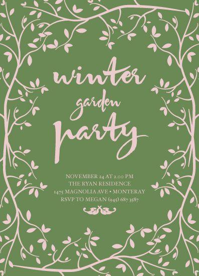 party invitations - Winter Garden by Kampai Designs