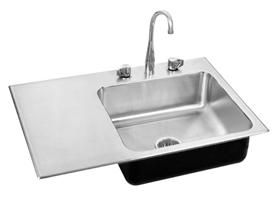 $725. USD.   Shop for the Just Single Bowl Insert Group Stainless Steel Sink, SI-1433-A-GR-L (Without Tappings) - Just Single Bowl Insert Group Stainless Steel Sink, SI-1433