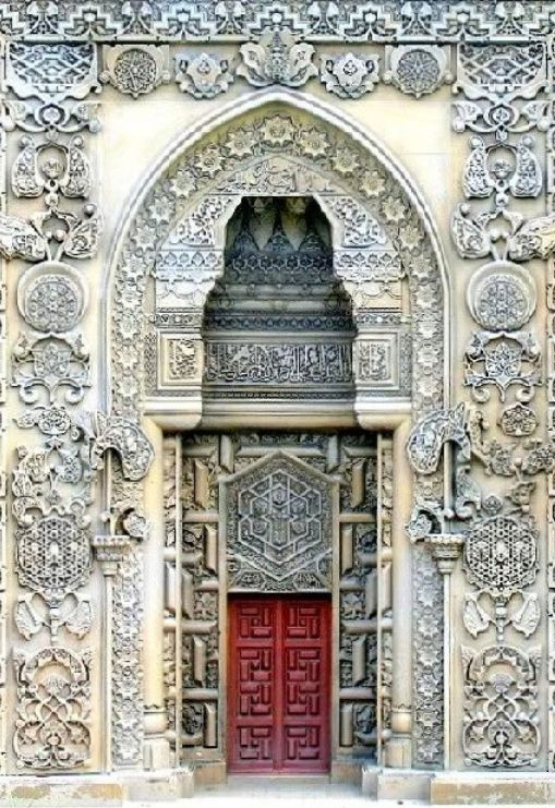 fabulous hexagonal motif on the Gate of the Great Mosque of Divriği, Sivas, Turkey