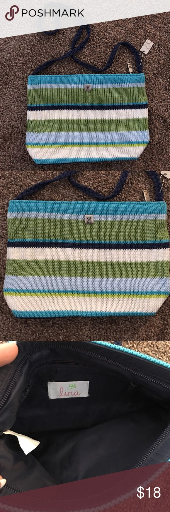 LINA SHOULDER BAG Never used, in mint condition. 100% polypropylene. Can be used as cross body 10 inches across 7 inches top to bottom. lina Bags Shoulder Bags