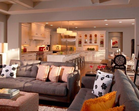 White Kitchen Open To Family Room 40 best open floor plan images on pinterest | kitchen ideas