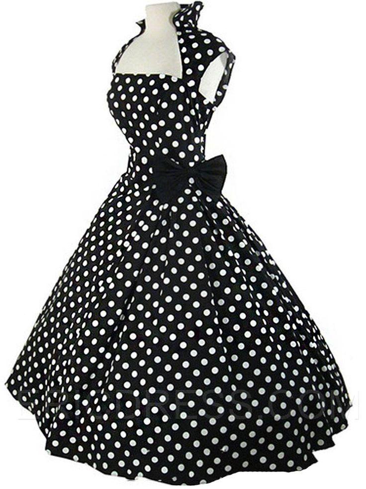 Ericdress Rockabilly Style A-Line Sleeveless Casual Dress 2