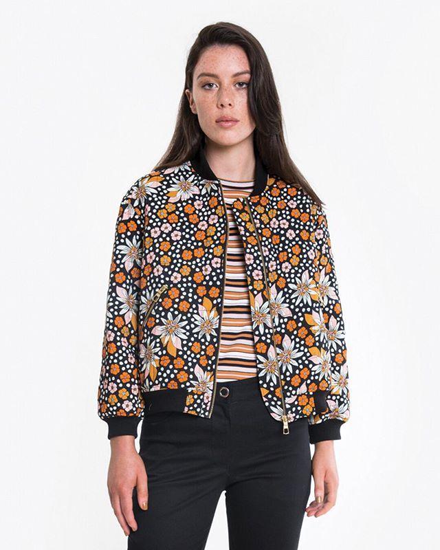 The MARAKUYA BOMBER JACKET has arrived instore  online! In quilted bamboo/cotton its the perfect autumn layer. #obus #obusclothing #bomberjacket #autumnjacket #cottonjacket #floraljacket #floralbomber #marakuyaprint #marakuya #twentyyearsofobus #colour #textiledesign #originaldesign #designedinmelbourne #madeinmelbourne #aw18 #autumn18 #quilted #quiltedjacket #buywellbuyonce