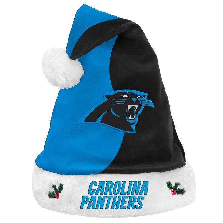 NFL Carolina Panthers Santa Hat, Adult Unisex
