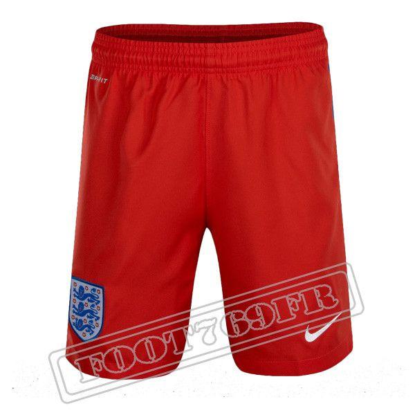 Promo: Short De Foot Angleterre Exterieur 2016 2017 Rouge - Foot769Fr