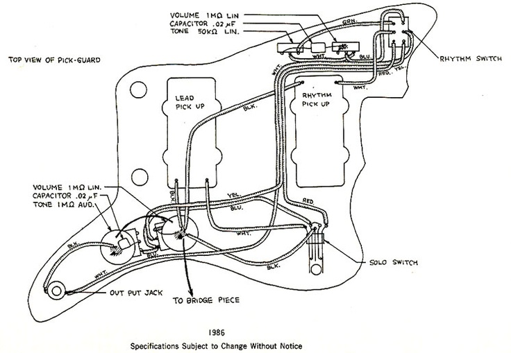 fender jaguar guitar wiring diagram jazz bass guitar