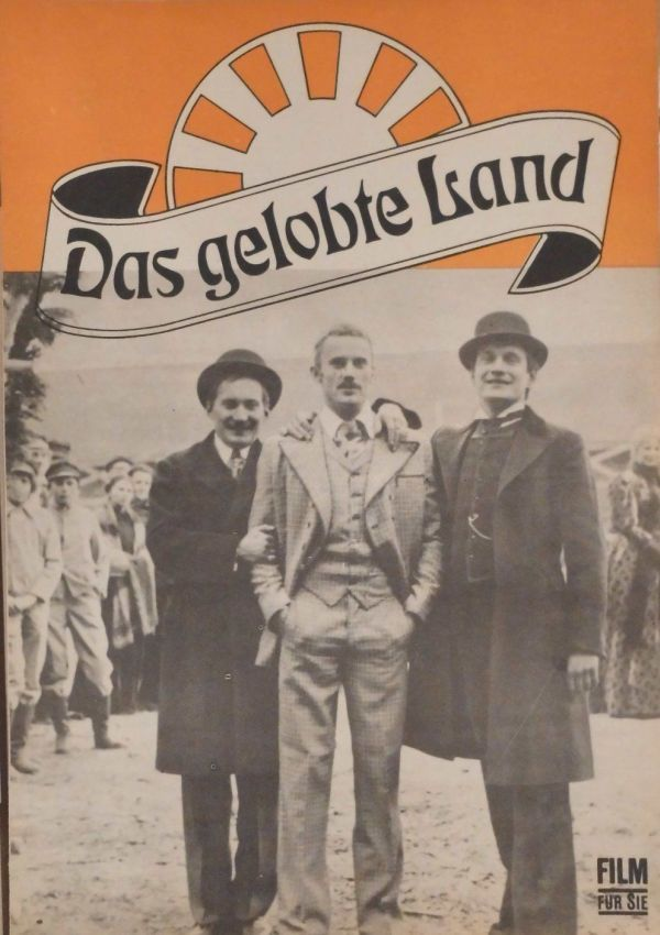 """""""Das gelobte Land"""" (1974) Directed by Andrzej Wajda Poland 🇵🇱 Anamorphic format East German film poster for a Polish Feature."""
