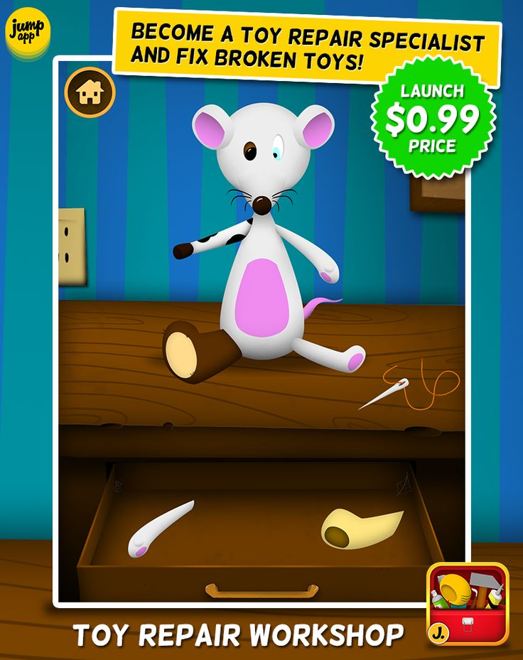 Toy Repair Workshop - iPhone and iPad #kidapp - Special launch price! https://itunes.apple.com/pl/app/id705081841?mt=8&affId=1860684