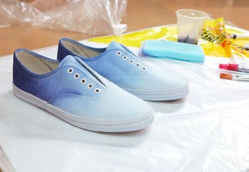 DIY Ombre Sneakers Tutorial -