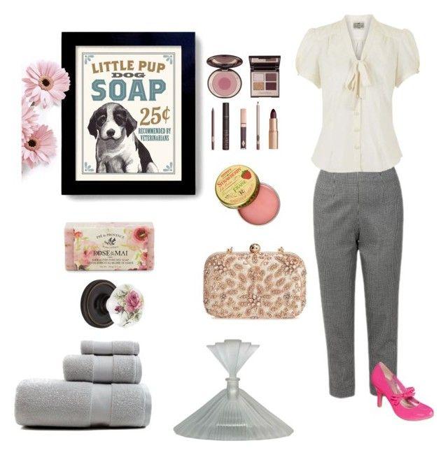 """#vintage #morning"" by summer1967 on Polyvore featuring beauty, Nostalgic Warehouse, POP, Charlotte Tilbury, Glint, Pré de Provence, Rosebud Perfume Co. and vintage"