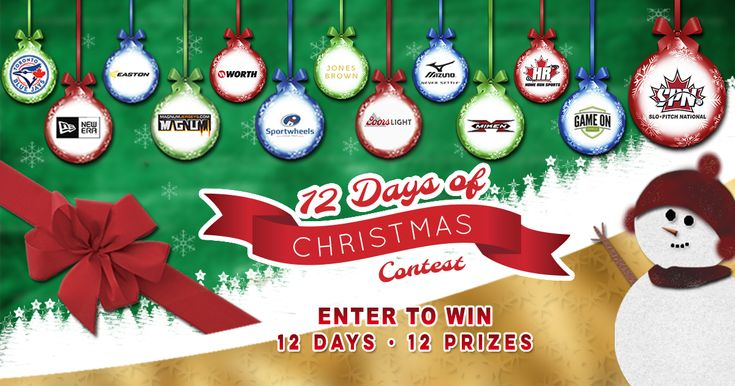 Enter the #SloPitchNational 12 Days of #Christmas 12 Days of Prizes #Bats #Jerseys #iPad