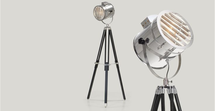 Alfred Tripod Floor Lamp in black | made.com