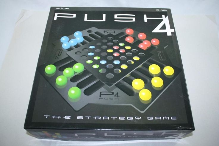 PUSH 4 - WHEN PUSH COMES TO SHOVE - THE STRATEGY GAME FUN FAMILY BOARD GAME #Summit