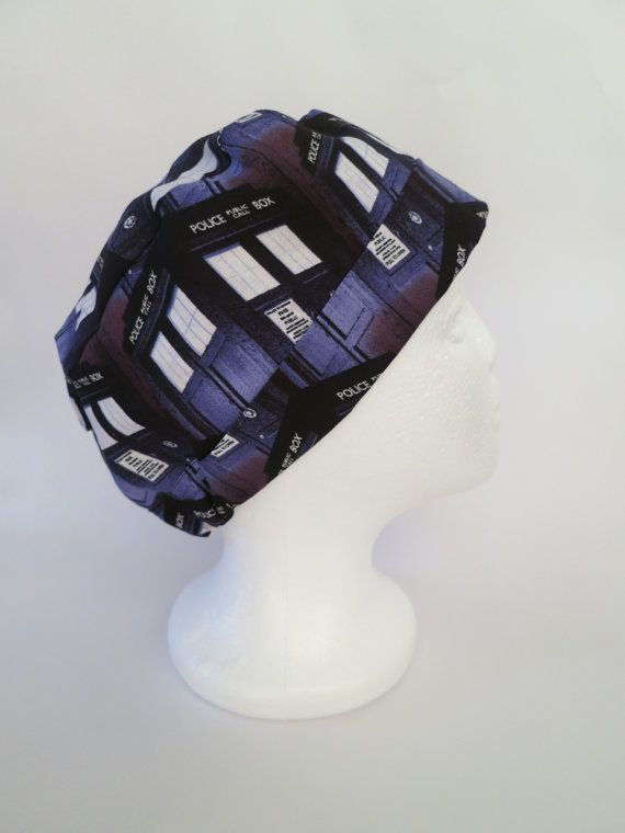 Scrub Hat Theatre Surgical Cap  'Doctor Who' by SnazzyScrubHats