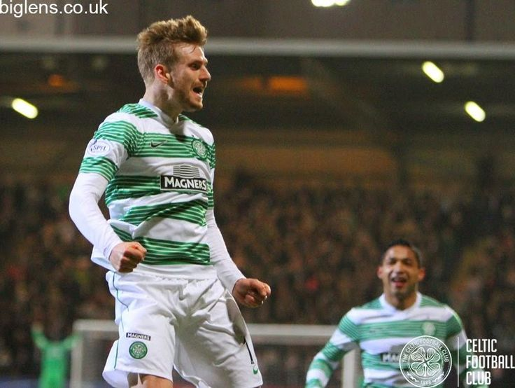 Partick Thistle 0-3 Celtic, 11th February 2015. Stuart Armstrong celebrates his debut goal in the hoops.