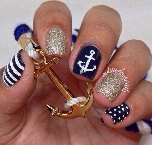 60 Cute Anchor Nail Designs