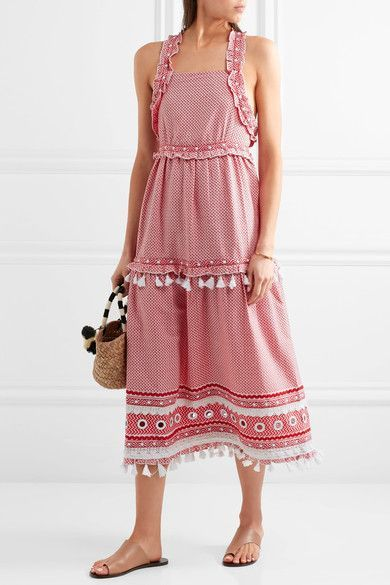 Dodo Bar Or   Embellished lace-trimmed cotton-jacquard midi dress   NET-A-PORTER.COM