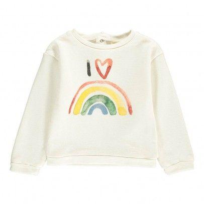 Felpa Rainbow Neonato Ecru  Hundred Pieces