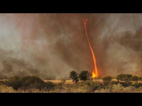 """""""Fire tornado"""" Australia HD - clearest ever capture in nature"""