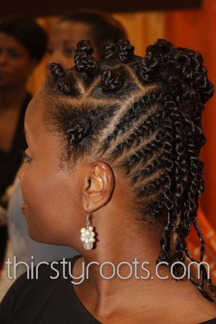 flat twist bantu knots natural