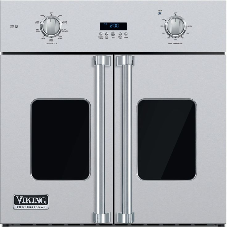 Viking VSOF730SS 30 Inch Single French Door Wall Oven with 4.7 cu. ft. Vari-Speed Dual Flow TruConvec Cooking Capacity, Gourmet-Glo Glass Enclosed Infrared Broiler, Rapid Ready Preheat and TruGlide Full Extension Rack: Stainless Steel $5,249.00