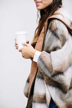 oversized coat: