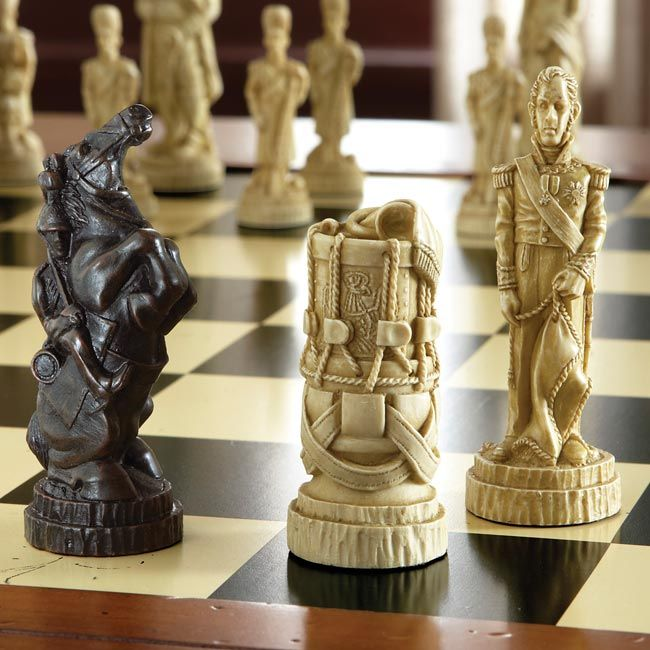 Wonderful Collectible Chess Pieces   Battle Of Waterloo Chessmen    Orvis On  Orvis.com!