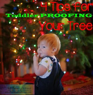 "Some great parenting tips to check out for the holidays ""Four Tips for Toddler Proofing Your Christmas Tree"""