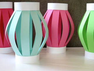 Decorations: Homemade Luau Party Paper Tiki Lantern! Repinned Note: Colorful paper lanterns not too expensive