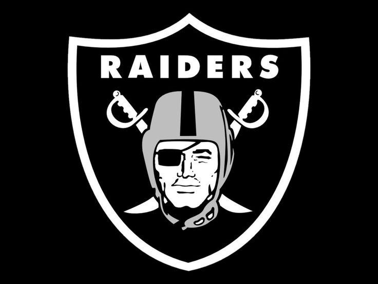 Raider Logo With A Black Background Oakland Raiders