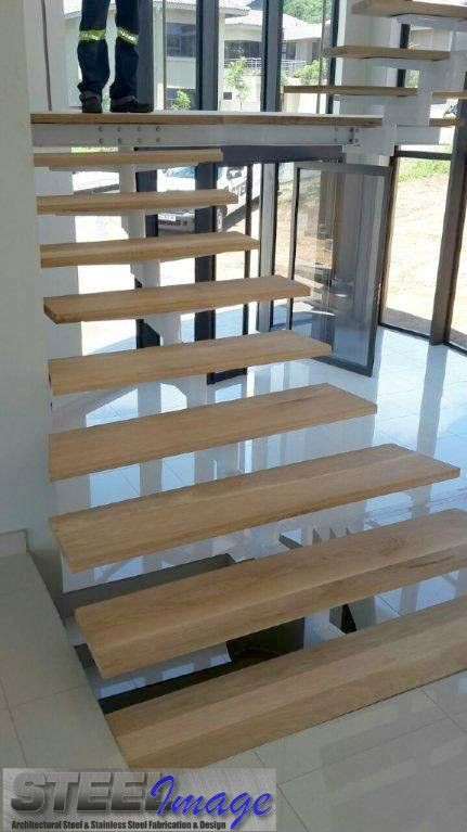 Isn't this just a beautiful design?  #steelimage #custom #designed #staircase