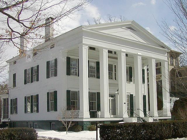 Greek Revival home in Saratoga, New York - Photo © Jackie Craven