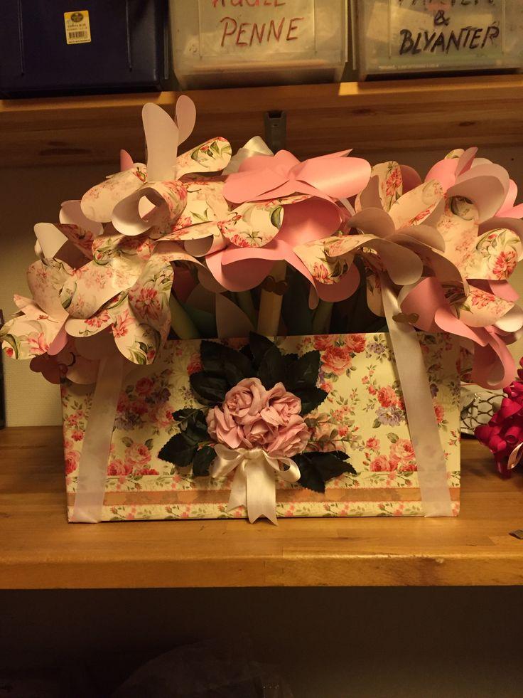 Sangen til mit barnebarn til hendes konfirmation, forklædt som blomsterkrukker.