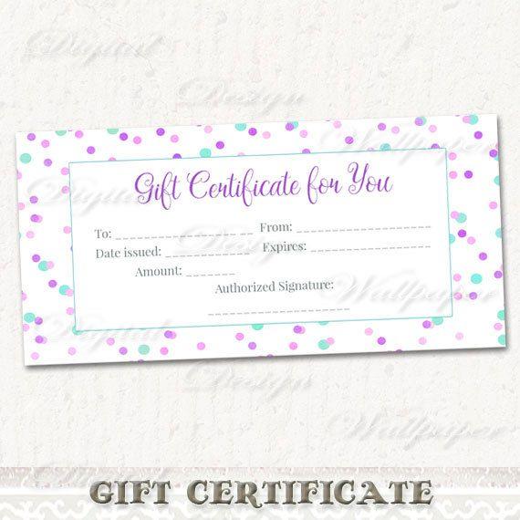 25+ enestående idéer inden for Blank gift certificate på Pinterest - gift certificate download