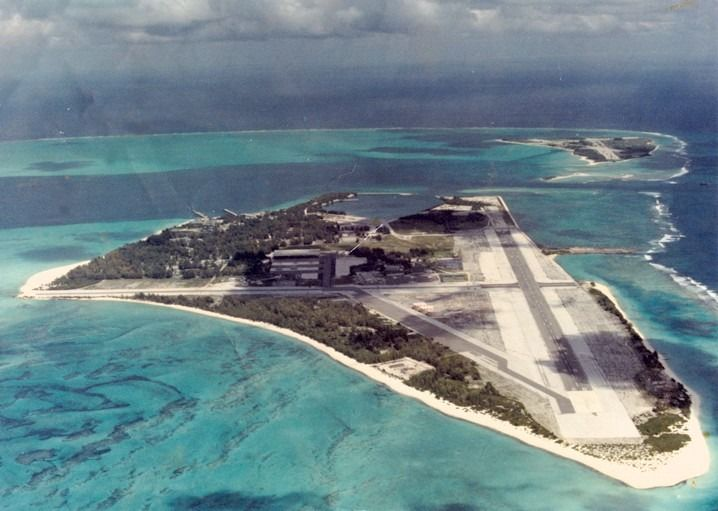 Midway Island-Stopped offshore on way to Guam as tribute to World War 2.