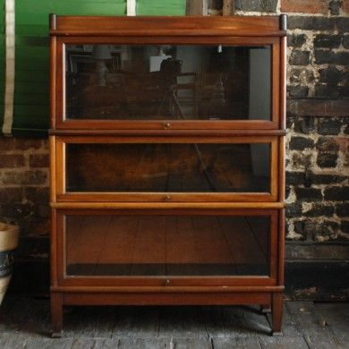A mahogany Globe Wernicke style bookcase
