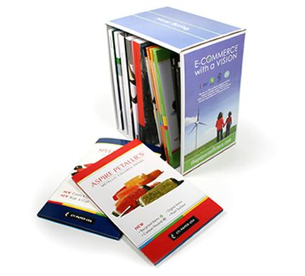 Paper mill brand swatch books for graphics professionals