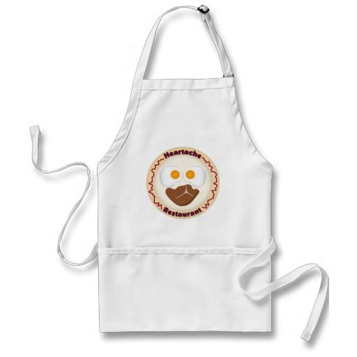 Heartache Restaurant Logo - breakfast food steak and eggs meal on plate- Apron