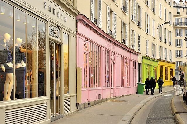 Our DIY Walking tour of the Canal St. Martin area of Paris will take you by these lovely painted storefronts....and you'll like what's inside!