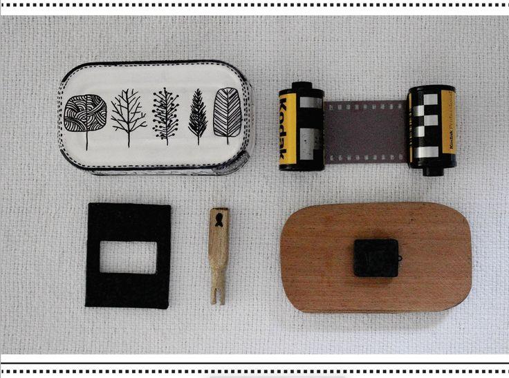Pinholes de lata de sardinha por Luiza Braga