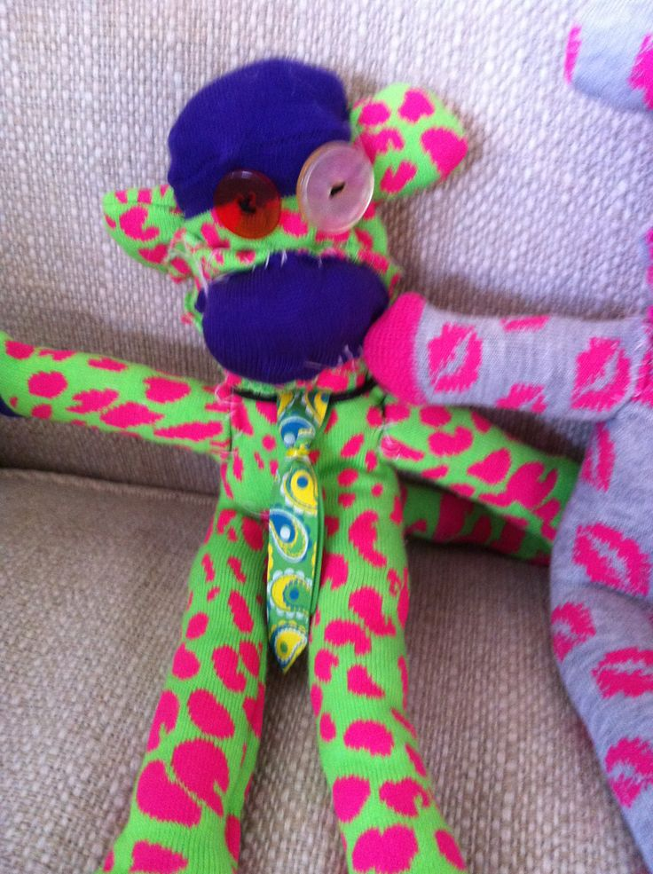 Super colourful. Pink Cheetah monkey. Pink cheetah