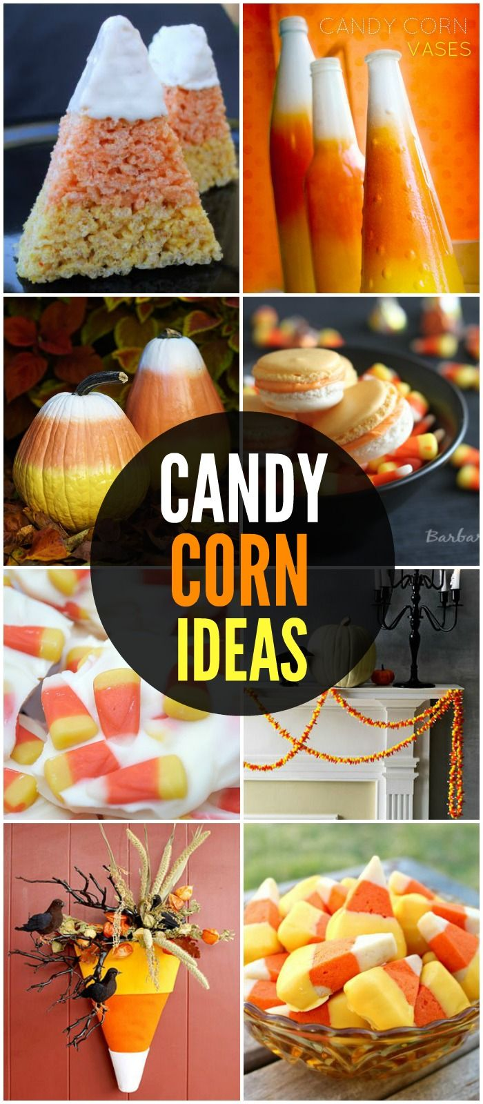 Candy corn ideas including crafts and treats - a must see collection!! { lilluna.com }
