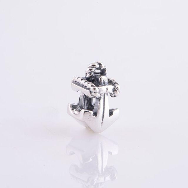 Подходит пандора браслет 925 серебро ювелирные изделия бусины якорь подвески для ес ожерелье цепь женщина своими руками подарок ювелирные изделия