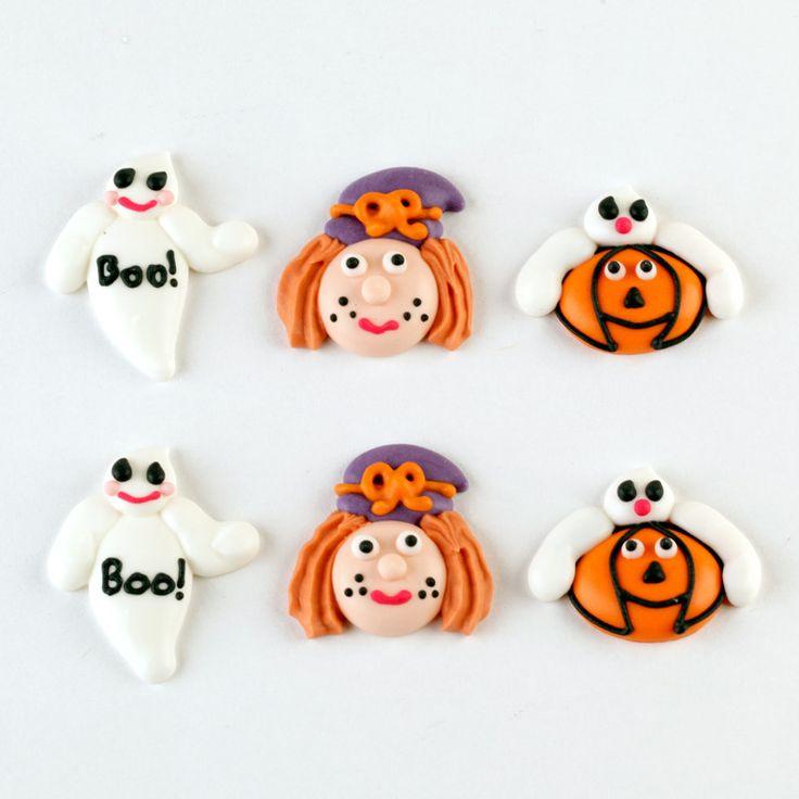 Happy Halloween Royal Icing Decorations