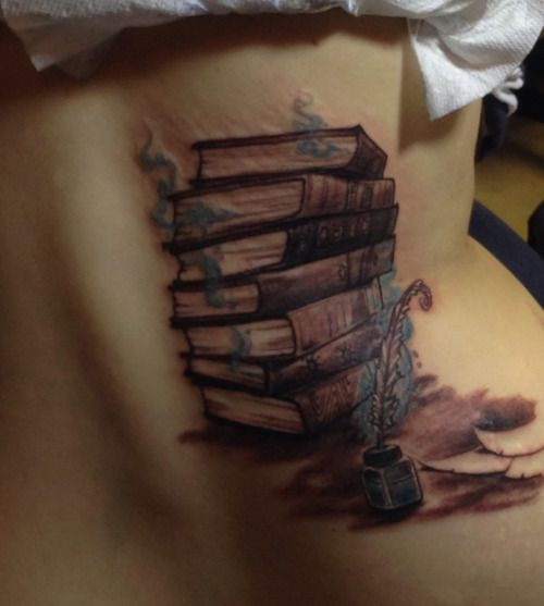 Ink and quill with books write your own story tattoos for Write your own tattoo