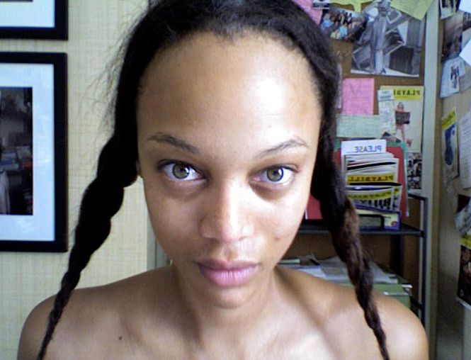 Check out Tyra Banks from Celebrities Without Makeup  She looks like E.T.