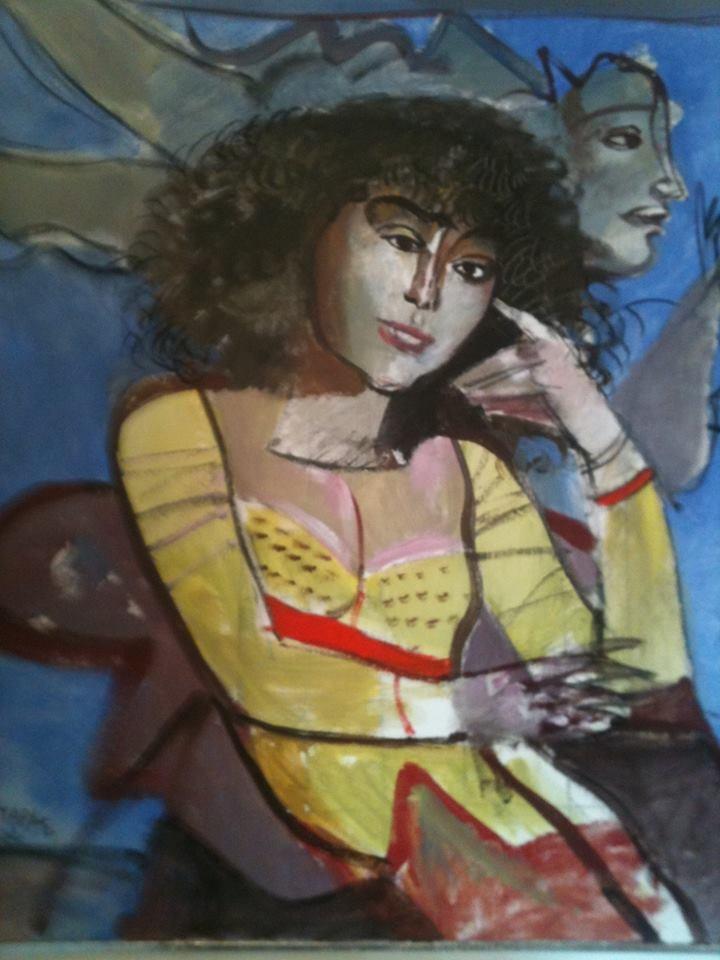 """Kαλοκαιρινή Ρόζυ""  / Δ.Μυταράς  ""Summer Rozy"" by D. Mytaras #greek #art #mytaras"