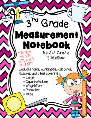 Measurement Notebook From 3rd Grade Edug8tor On Teachersnotebookcom