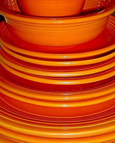 Fun dishes for any YWCA event!  <3 Fiesta / Fiestaware - Persimmon