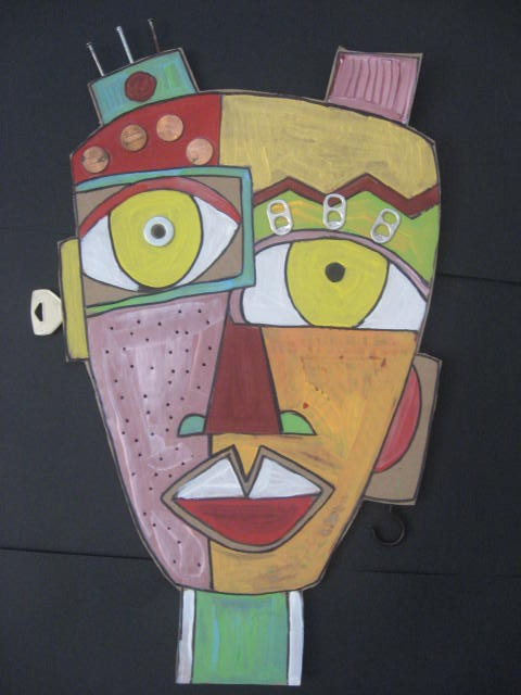 MaryMaking: Cardboard Masks Inspired by Kimmy Cantrell and Eric Straw